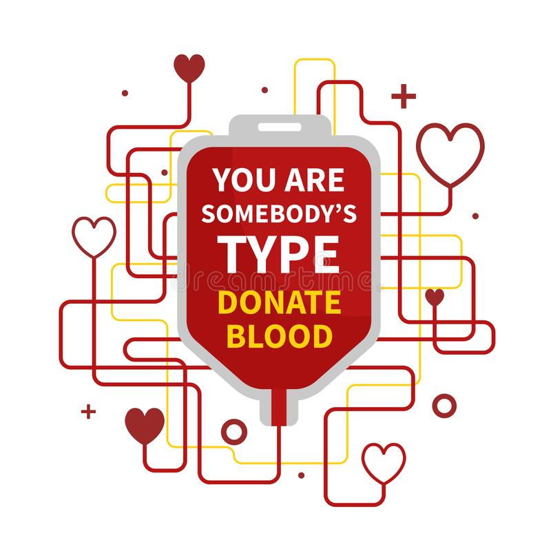 Blood donation infographic stock illustration