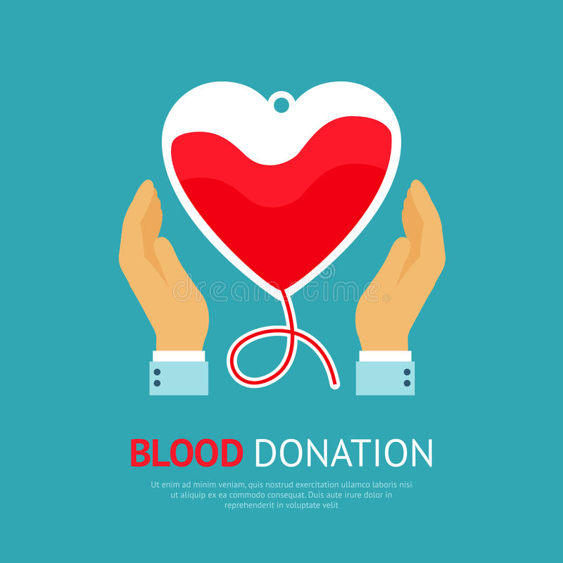 Blood Donation Poster stock illustration
