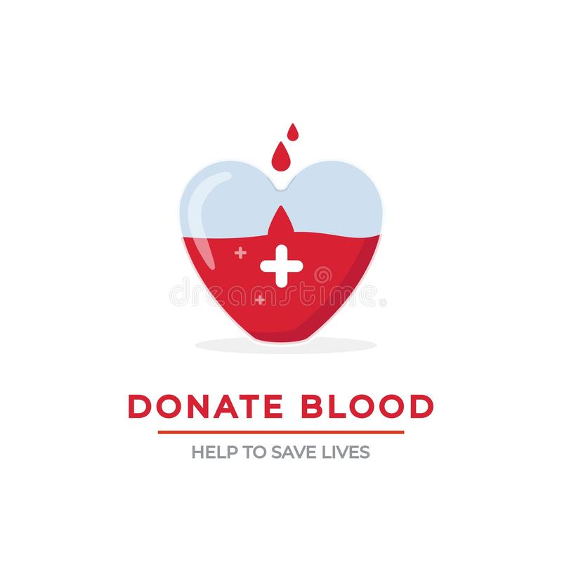 Blood donation poster vector concept vector illustration