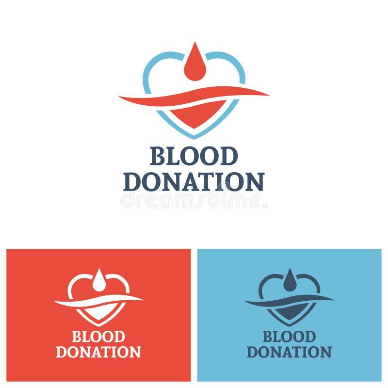Blood donation vector logo design template vector illustration