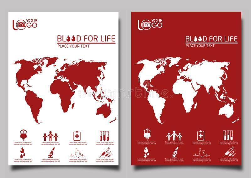 Blood donor. Flyer design template vector vector illustration
