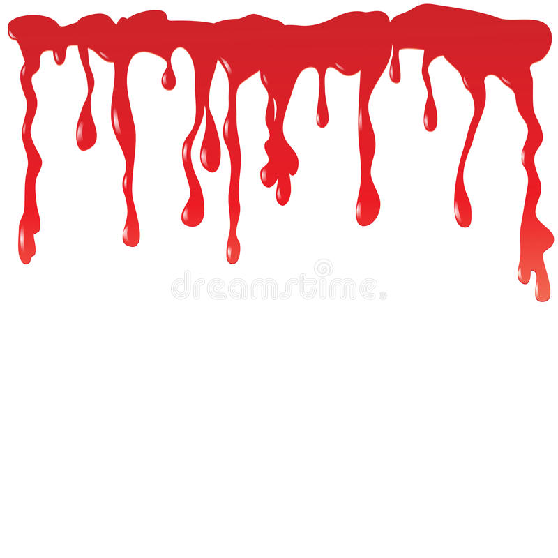 Download Blood dripping stock vector. Image of horror, spot, vector - 26031088