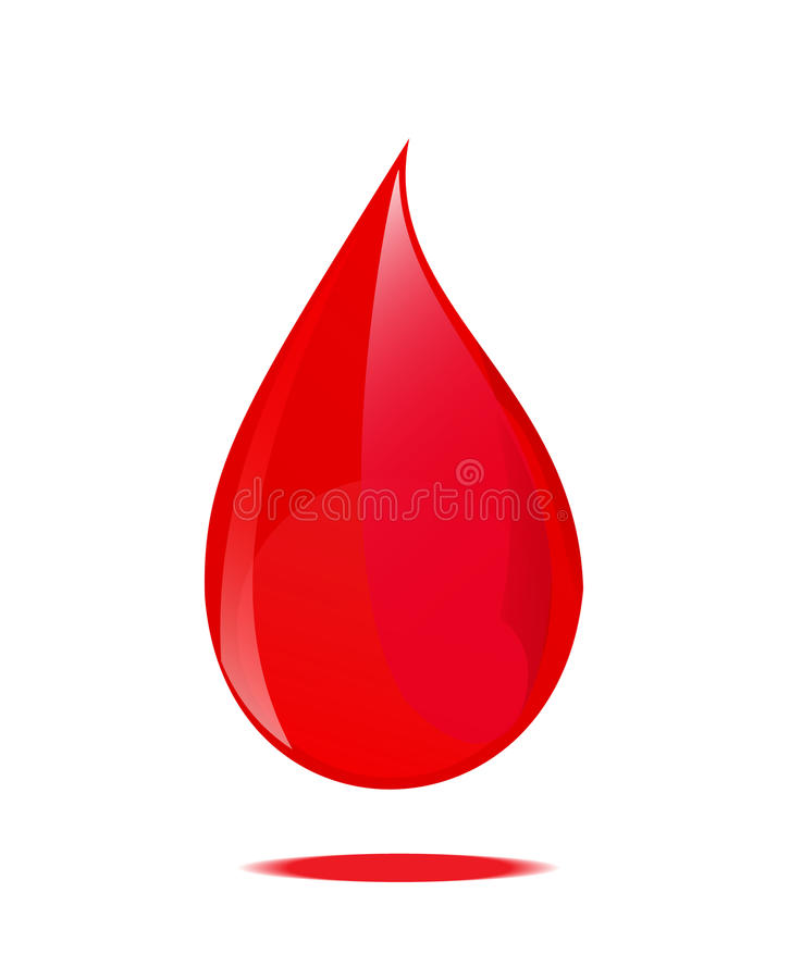 Blood drop symbol. stock photo