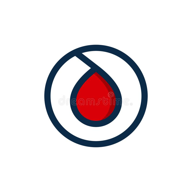 blood droplet logo design vector icon the symbol of a bloods drop symbol illustration vector illustration