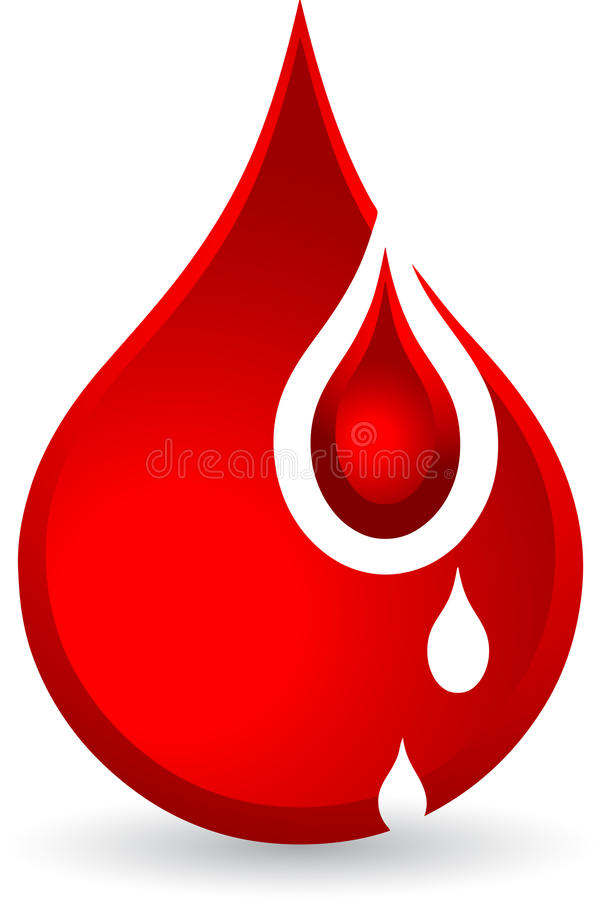 Blood drops. Illustration art of a blood drops with isolated background