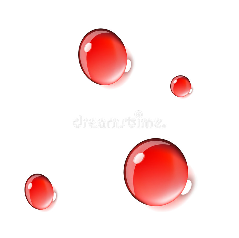 Blood drops. Isolated on white background jpg, or . Size and color can be changed vector illustration