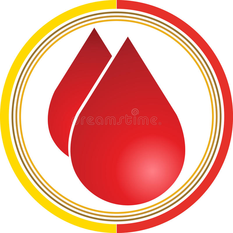 Download Blood drops logo stock vector. Illustration of care, blood - 22544740