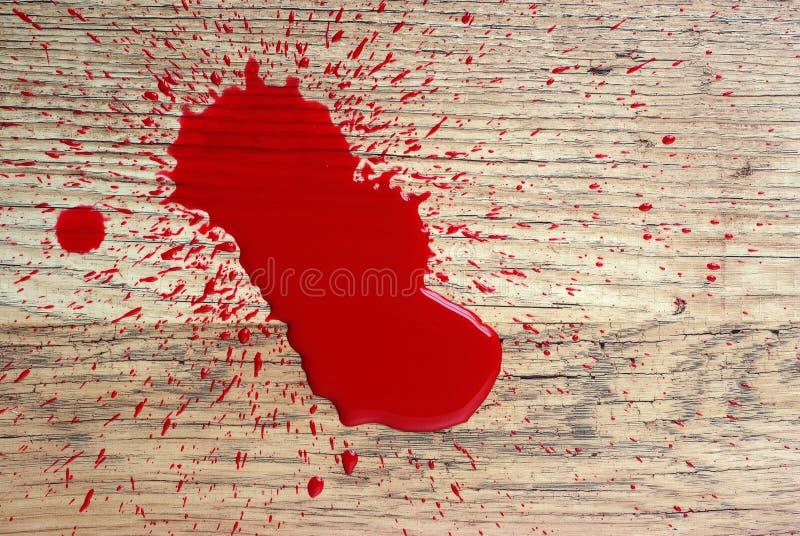 Blood on floor. Paint imitating blood on floor royalty free stock photo