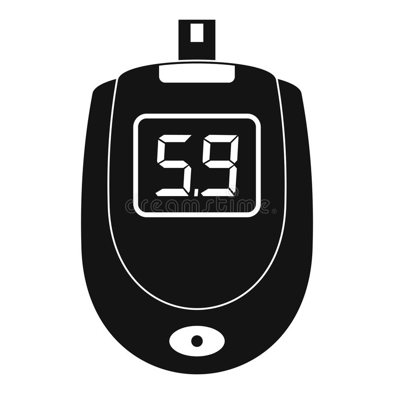 Blood glucose level icon, simple style. Blood glucose level icon. Simple illustration of blood glucose level icon for web design isolated on white background vector illustration