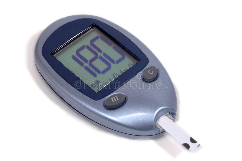 Blood glucose meter stock photography