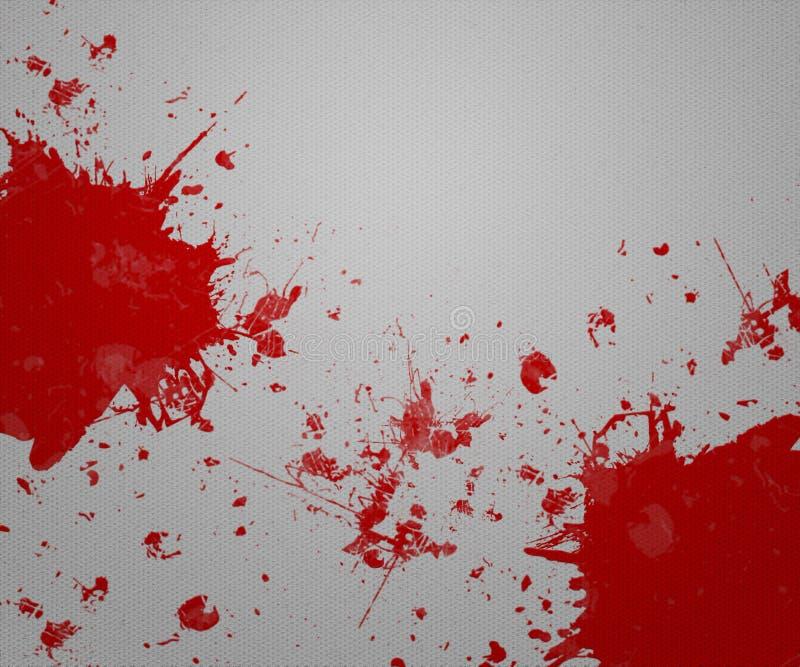 Blood on Gray Paper vector illustration