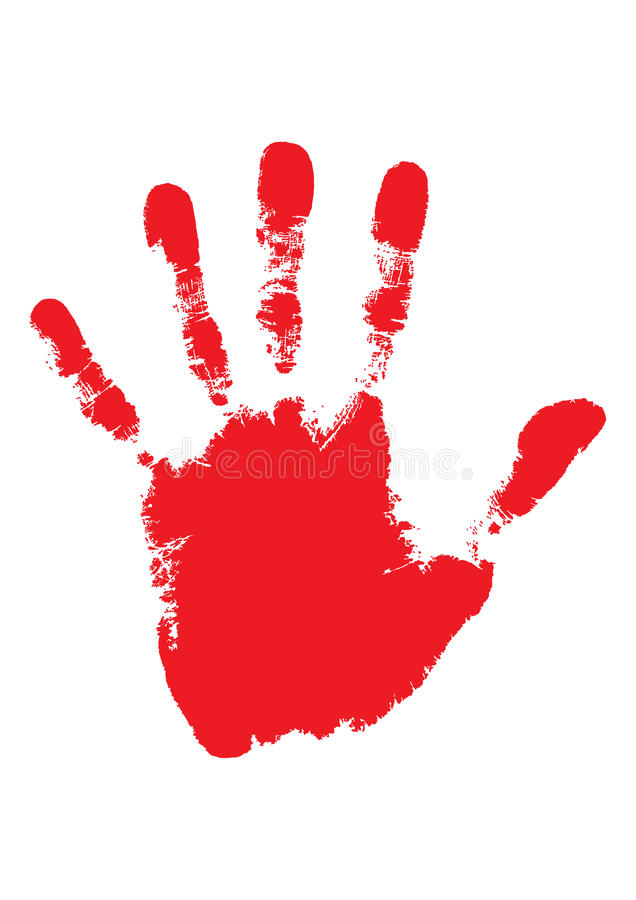 Blood hand vector illustration