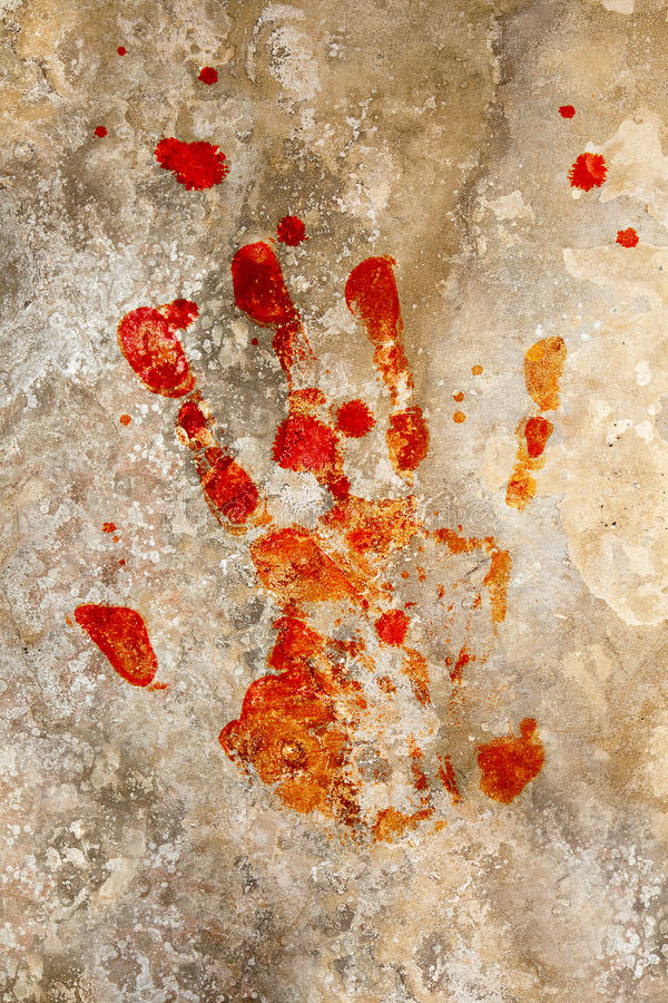 Download Blood Hand On Grunge Stock Photography - Image: 10896382