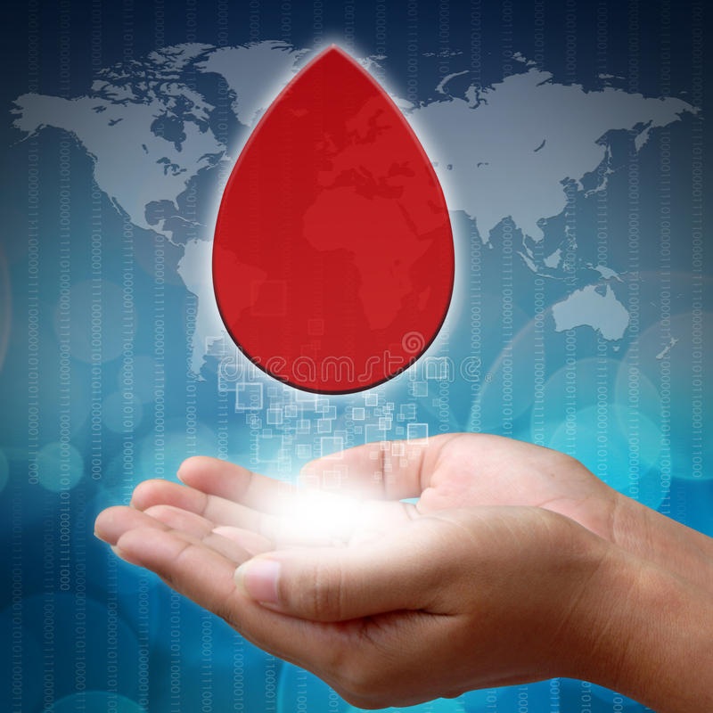 Download Blood on hand with medical stock photo. Image of human - 26459800