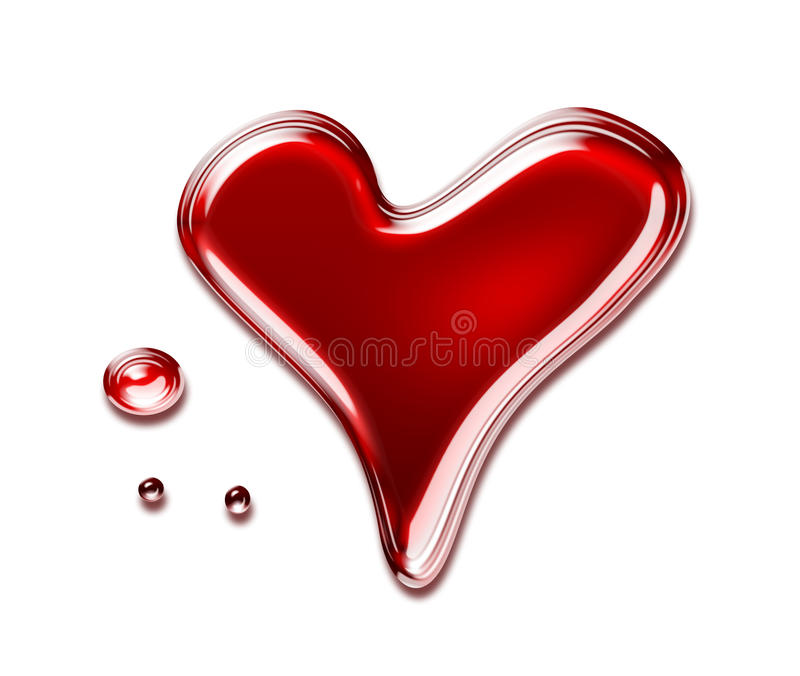 Blood heart stock illustration