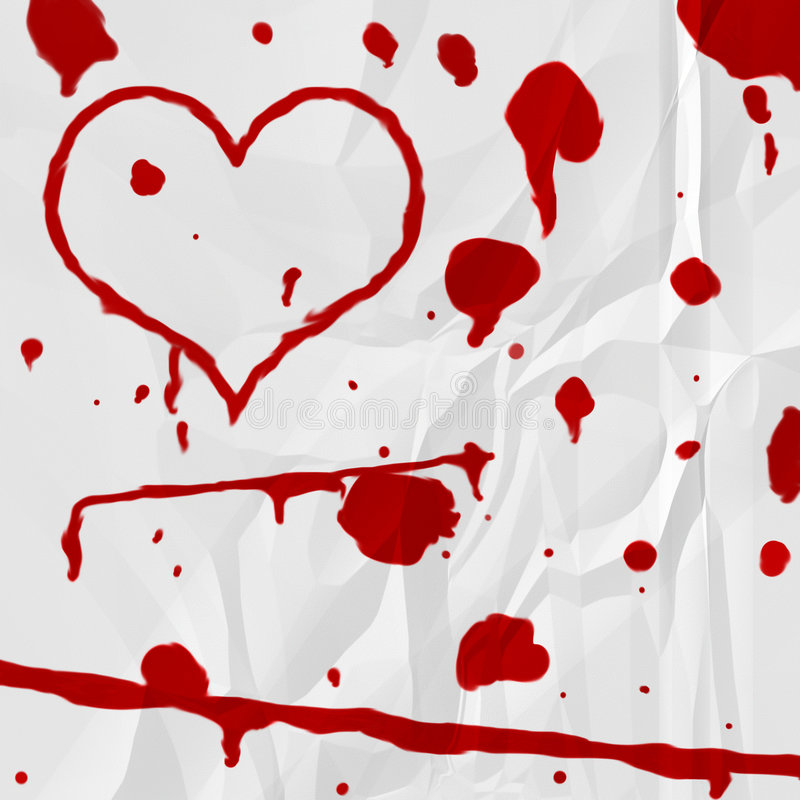 Blood Heart royalty free stock image