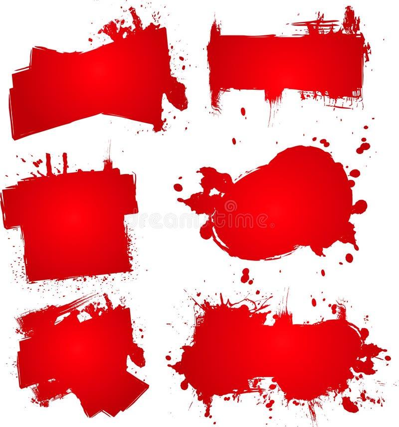 Blood ink splat stock illustration