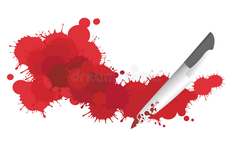 Download Blood and Knife stock vector. Image of design, mess, backdrop - 28769902