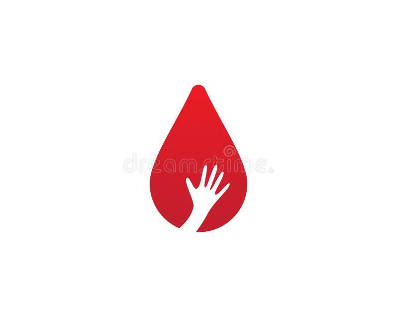 Blood logo template vector illustration