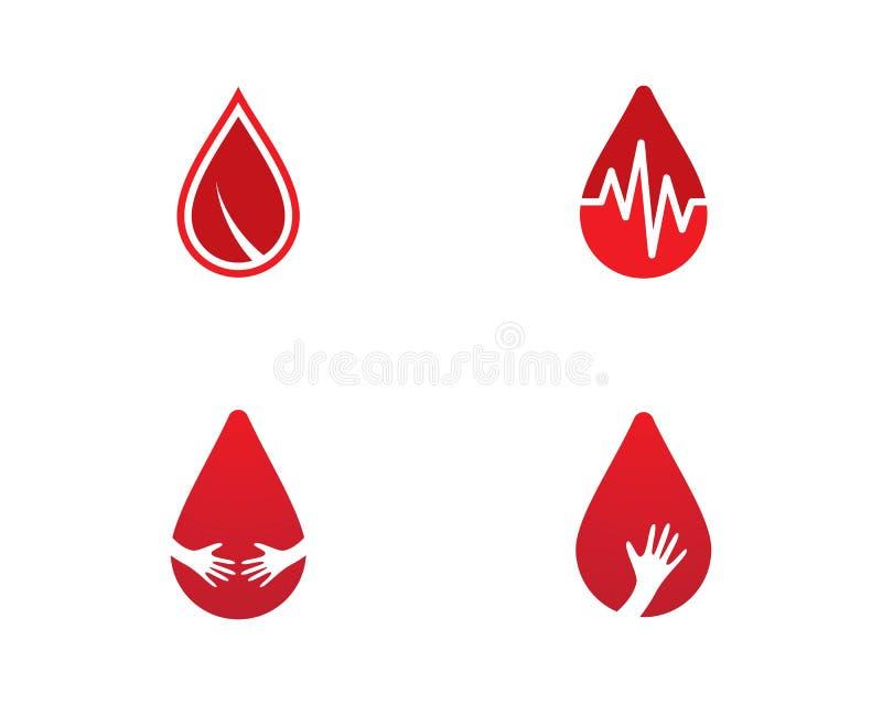 Blood logo template royalty free illustration