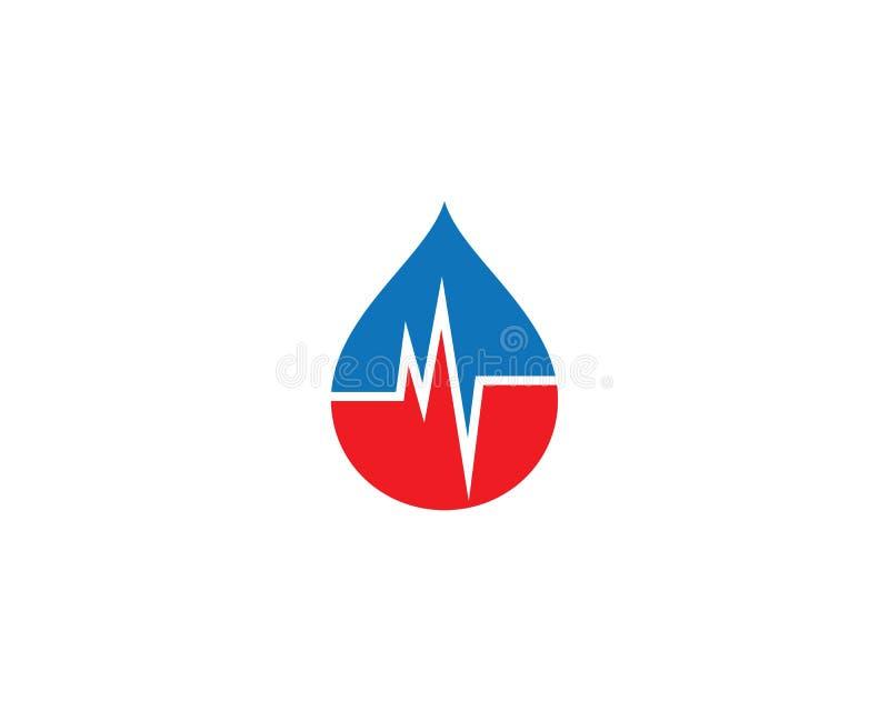 Blood logo template vector icon. Illustration design, aid, alternative, background, beat, care, clinic, concept, curves, disease, donation, drop, ecg, editable vector illustration