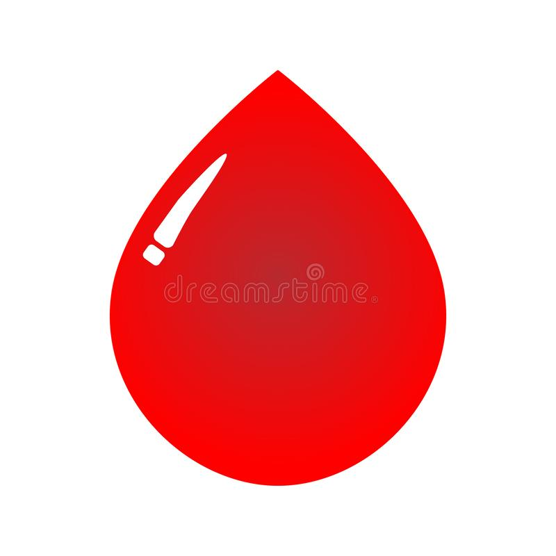 THE RED BLOOD SYMBOL. THIS IS BLOOD LOGO, YOU CAN USE IT FOR BAKCGROUND/ FOR LOGO/ FOR BUSSINES SYMBOL vector illustration