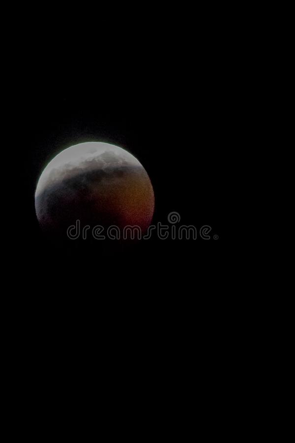 Blood Moon. Winter nightsky lunar stock photo