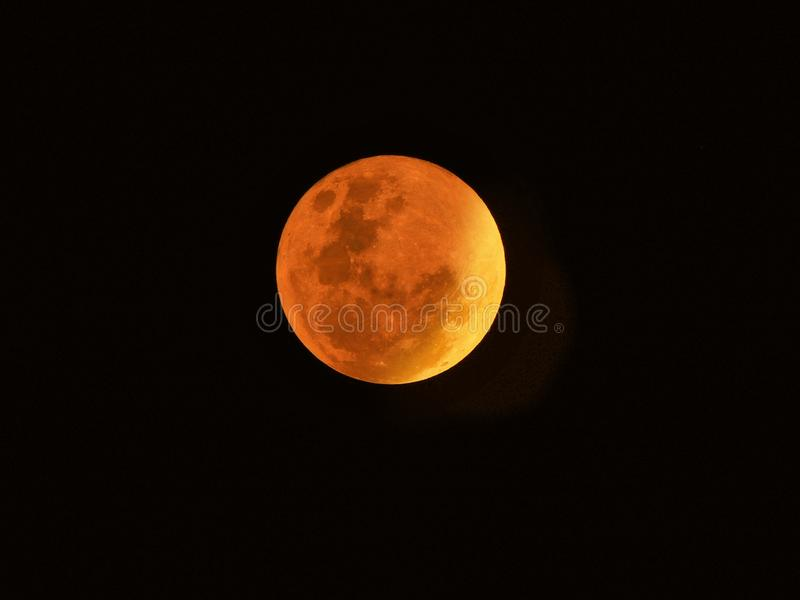 Blood moon. Bluemoon fullmoon lunarphotography stock photography