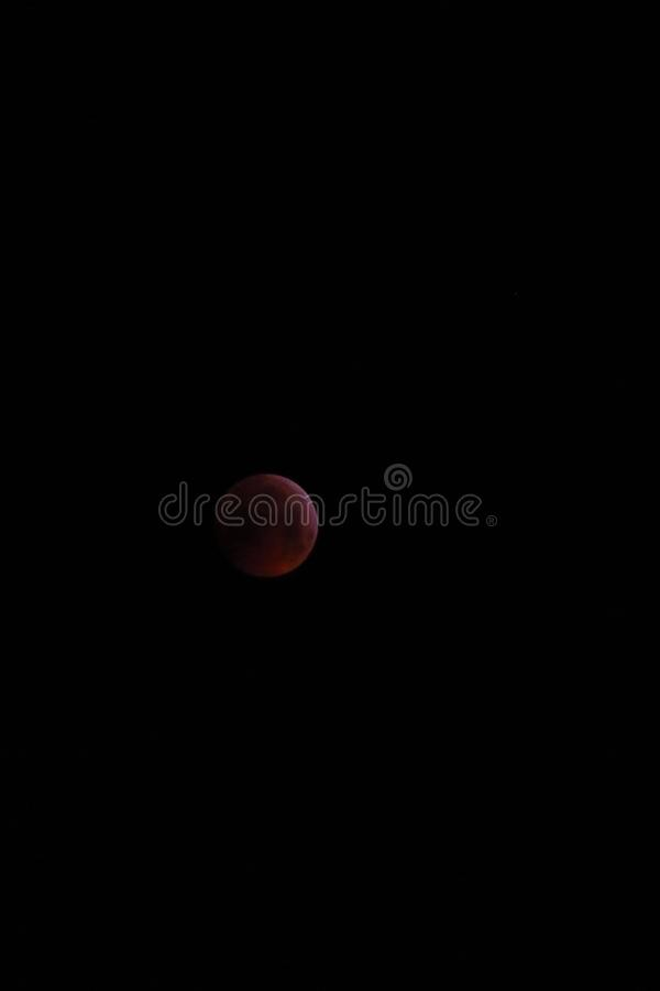 Blood Moon eclipse, 21 january 2019, Belgium. A total lunar eclipse called blood moon, 21 january 2019, Belgium royalty free stock photography