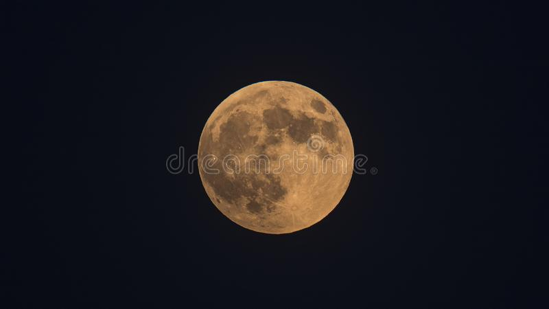 Blood Moon in Izmir. Blood moon shot in Izmir, Turkey at the time of eclipse of the moon royalty free stock photos