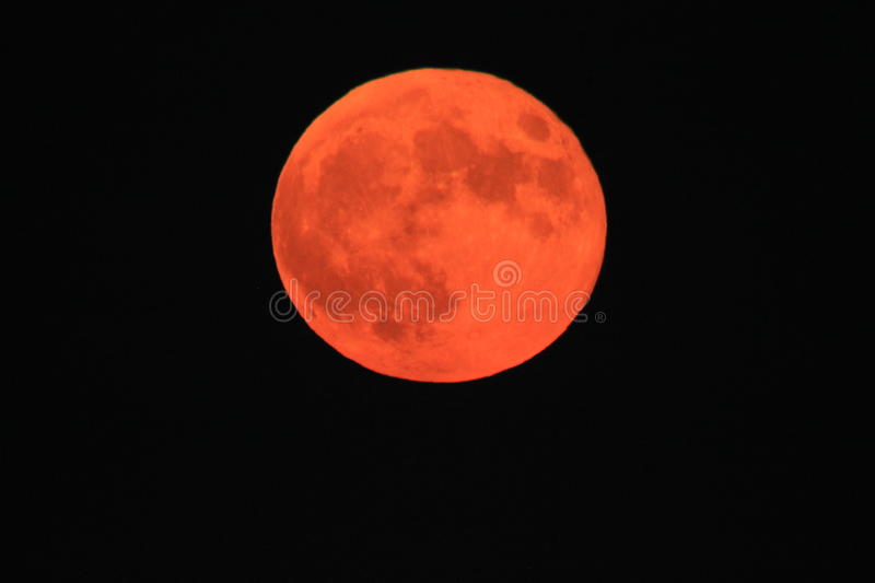 Blood Moon Japan Chiba Night time. Blood Moon Japan Chiba in katsuura once a year next to the pacific ocean royalty free stock photography
