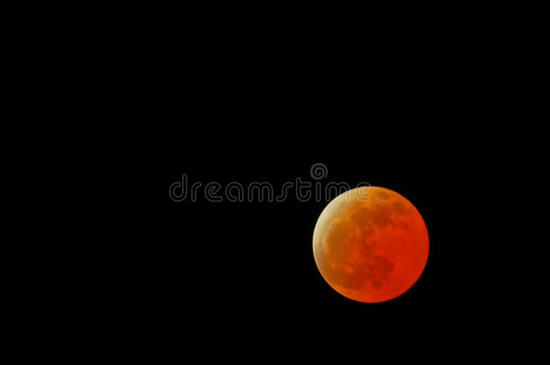 Blood moon lunar eclipse. Picture of Blood moon lunar eclipse in Asia stock image