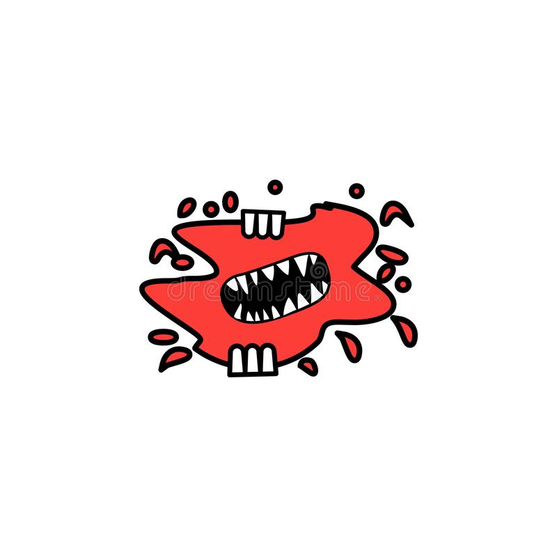 Blood, mouth, horror icon. Element of literary genres icon for mobile concept and web apps. Detailed Blood, mouth, horror icon can royalty free illustration