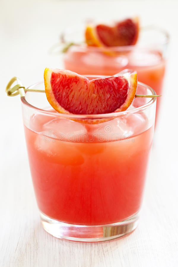 Blood orange cocktail royalty free stock photography