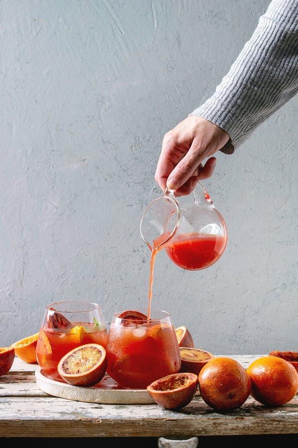 Blood orange cocktail stock photography