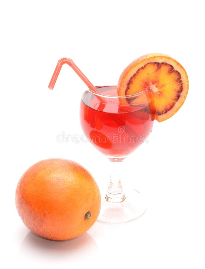 Blood orange cocktail stock images
