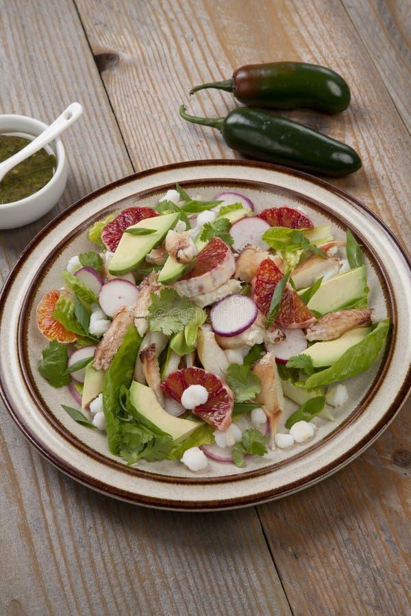 Blood Orange Crab Posole Salad royalty-vrije stock fotografie