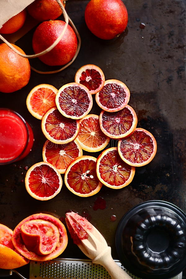 Blood Orange Slices stock image