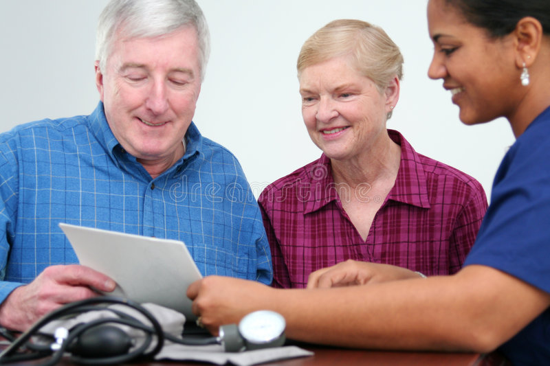 Download Blood Pressure stock photo. Image of hospital, woman, concerned - 5093832