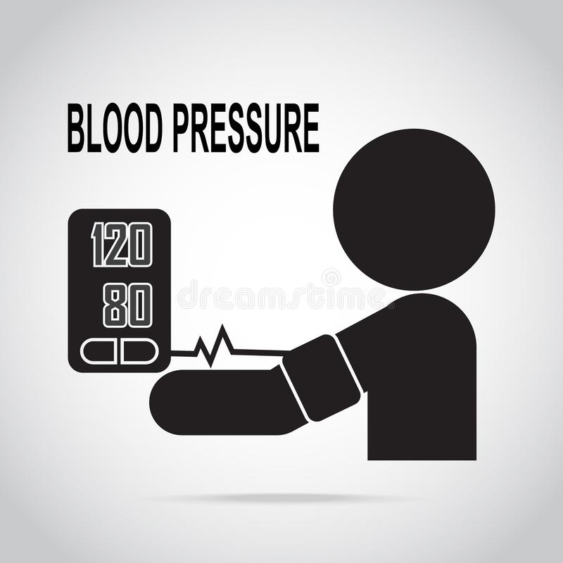 Blood pressure check icon, medical sign vector illustration