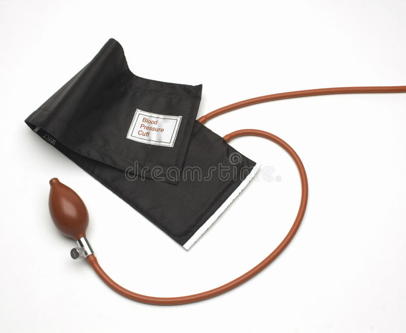 Blood Pressure Cuff. Image of blood pressure cuff on white background royalty free stock images