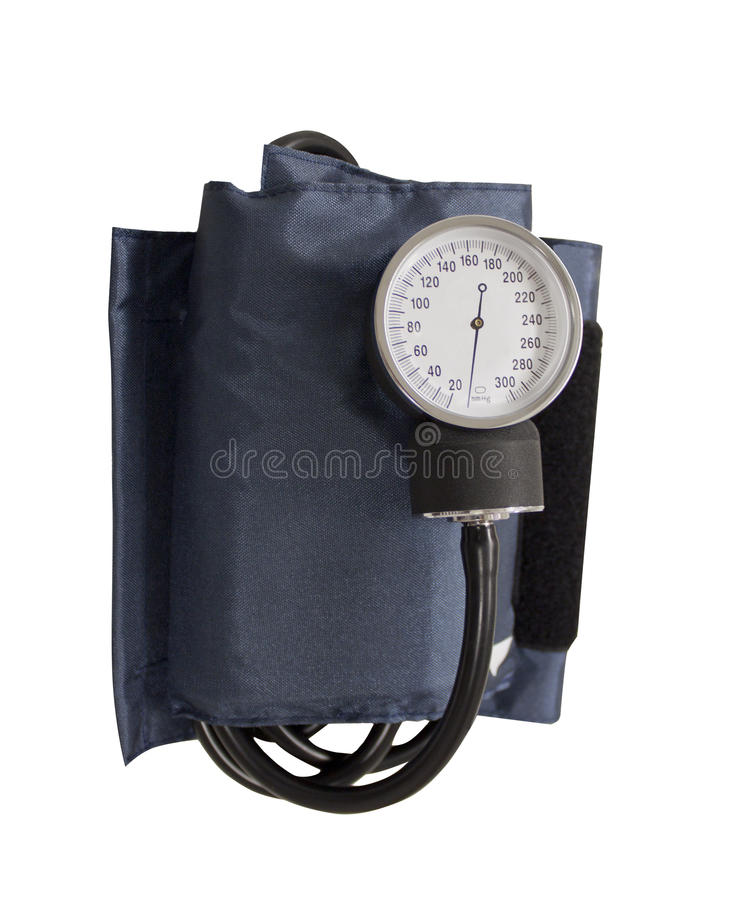 Blood pressure cuff. Isolated on a white background royalty free stock photo