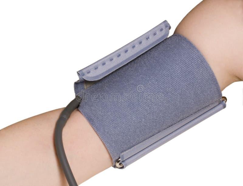 Blood pressure cuff. Blood pressure metering equipment: the cuff stock image