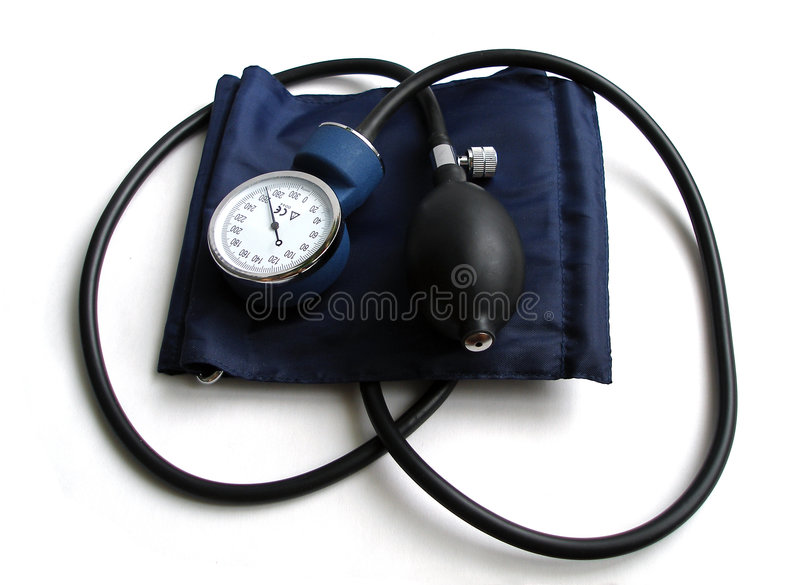 Blood Pressure Cuff. Isolated on white stock image