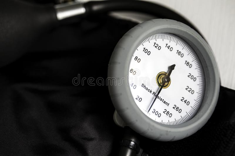 Blood Pressure Cuff. For medical exams and health care on a white background stock image