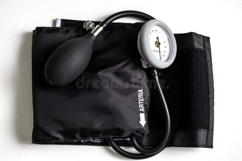 Blood Pressure Cuff. For medical exams and health care on a white background royalty free stock image