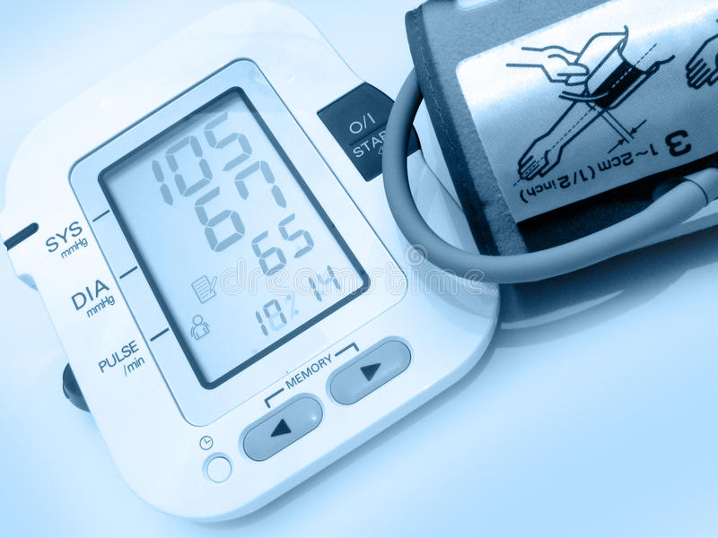 Blood pressure device royalty free stock photos