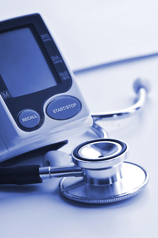 Download Blood pressure equipment stock photo. Image of medicine - 27892864