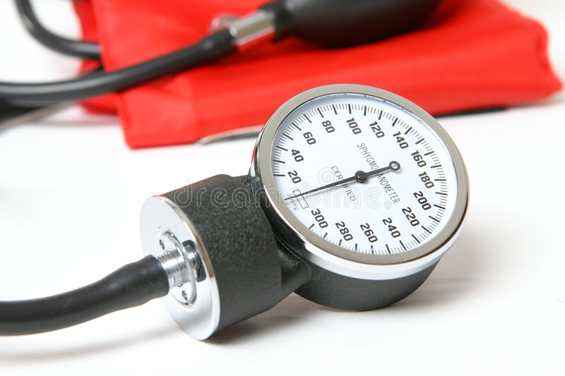 Blood pressure instrument royalty free stock photography