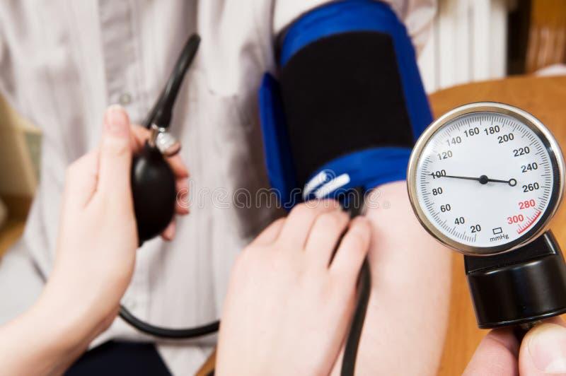 Blood pressure measurement royalty free stock photo